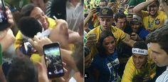 Neymar comemora ouro nos Jogos Olímpicos com abraço em Bruna Marquezine