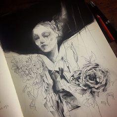 Sketchbook drawings by artist Craww
