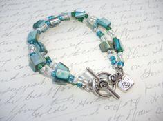 Bracelet double rang de nacre de perle par BijouxdeBrigitte sur Etsy, $18.00
