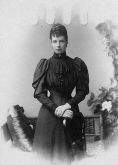 Dowager empress Maria Fyodorovna of Russia. Mids 1890s.