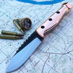 Thunderbolt with copper scales done. #turleyknives #knifestagram #knifepics…