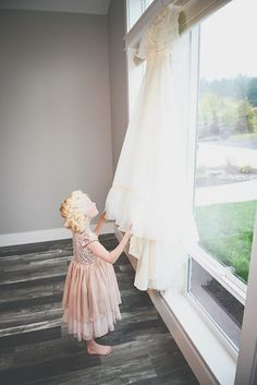 Flower girl and wedding dress Photo from Weddings collection by LundynBridge Events