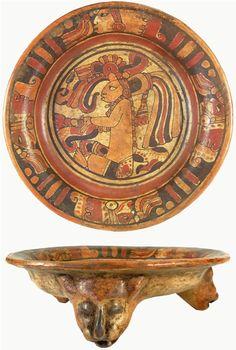 "Ancient Pre-Columbian Terracotta Vessel. In the shape of jaguar heads. 600-900 AD (3 ½"" x 11 ¼"")."
