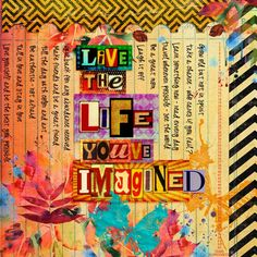 live - studio tangie baxter - love the different coloured letters