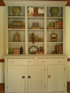 An idea for repurposing the old china hutch.