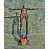 Found it at Wayfair - Garden Man Arms Statue