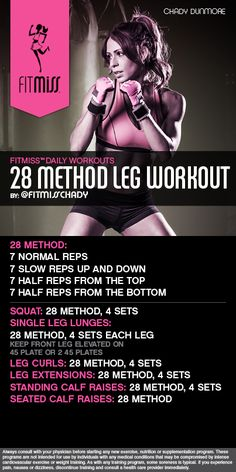FitMiss 28 Method Leg Workout