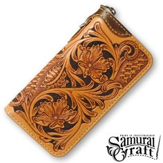 Custom curving leather wallet sheridan stile Luxurious Vintage Handcrafted