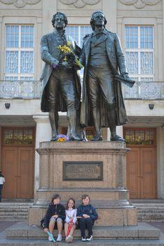 Weimar stad Goethe und Shiller Duitsland (langs de grens) 2011