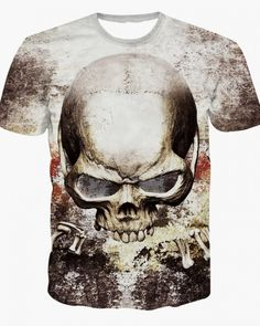 fc0aff93c Evil 3D Skull T-shirt male summer Spring Shirts, Fashion Site, Men Fashion