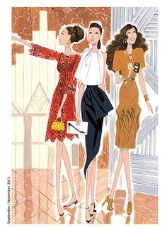Colaboración con la revista Vogue Japón 2013.  Cada mes se publica una Ilustración en la sección MY BAG AFFAIR.