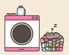 Sleeping like pusheen Crazy Cat Lady, Crazy Cats, I Love Cats, Cute Cats, Pusheen Stormy, Pusheen Stickers, Pusheen Love, Arte Do Harry Potter, Kawaii Wallpaper