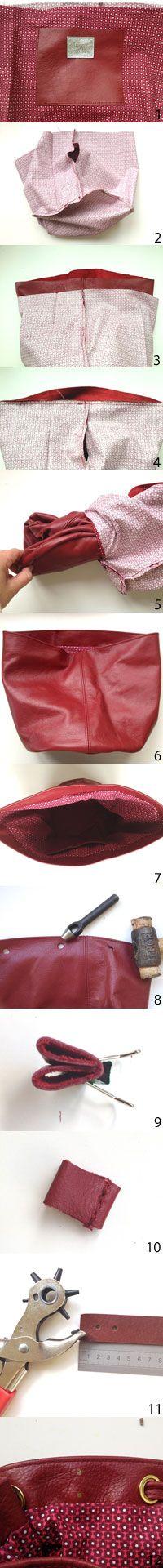 Make a drawstring bucket bag :: How to make a handbag :: allaboutyou.com