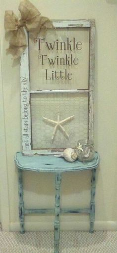 This cloth life ring is for decoration only and is approximately The life ring is a off white with red accents. Great nautical decor or for decoration in a bathroom or Lanai. Vintage Windows, Old Windows, Antique Windows, Old Window Projects, Diy Projects, Beach House Decor, Diy Home Decor, Window Art, Window Frames