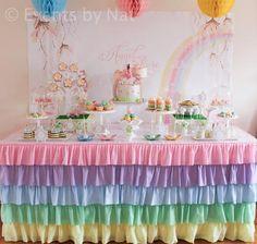 Pastel Rainbow Fairy Themed Birthday Party