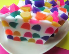 Gumdrop Soap - Goodie Gumdrop Soap - Christmas Soap - Color - Festive - Holiday Soap - Candy Soap - NEW. $6.50, via Etsy.