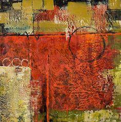 Spectator by Linda Benton McCloskey Encaustic ~ 24 x 24