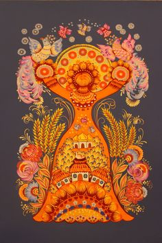 Russian Folk Art, Ukrainian Art, Eslava, Russian Embroidery, Caricature Drawing, Naive Art, Elements Of Art, Art Techniques, Cool Artwork