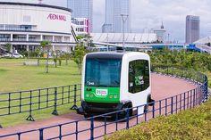 日本初の無人運転バス 商業施設「イオンモール」で試験走行 - ライブドアニュース