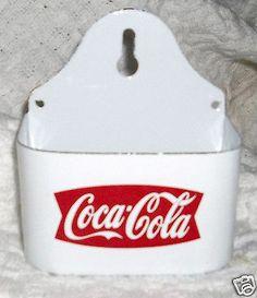 Coca-Cola Fired Porcelain Match Holder