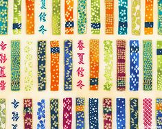 Satsuki - Spring Ribbons (Vanilla/Gold) by Robert Kaufman