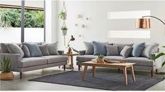 Zenith 3 Seater Fabric Sofa - Living Room - Furniture, Outdoor & BBQs | Harvey Norman Australia