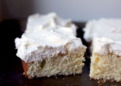 Almond Sheet Cake with Almond Buttercream Frosting