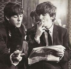 Paul McCartney en George Harrison