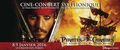 """Ciné-concert """"Pirates des Cara¨bles, la malédiction du Black-Pearl""""   Le Grand Rex"""