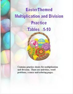 EasterThemed Worksheets Multiplication and Division Practi