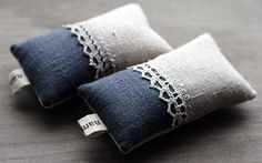 little linen and lace pincushions