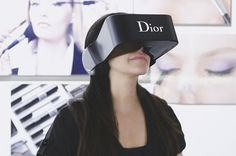 Dior Eyes is a Branded Virtual Reality Headset for Interacting with Clients #tech trendhunter.com