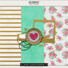 Let's Celebrate Part 1 Mini Kit by Mari KoegelenbergHere is how you can get the whole mini-kit.  1.Download Part 1 in my STORE. 2.Subscribe to my NEWSLETTER for Part 2. 3.Like my FAN PAGE to receive Part 3.