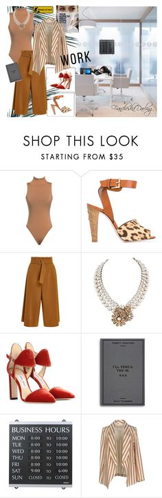 """""""Who Did That?"""" by francheskadarling ❤ liked on Polyvore featuring RED Valentino, A.L.C., Jimmy Choo, Easy, Tiger, U.S. Stamp & Sign, HP, officewear and officeattire"""