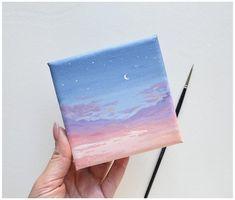 Small Canvas Paintings, Small Canvas Art, Mini Canvas Art, Small Paintings, Acrylic Painting Canvas, Diy Canvas, Mini Tela, Art Mini Toile, Canvas Painting Tutorials