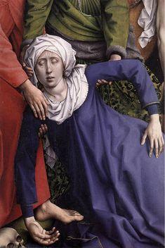 WEYDEN, Rogier van der  Netherlandish Northern Renaissance (ca.1400-1464)_Deposition [detail 1]