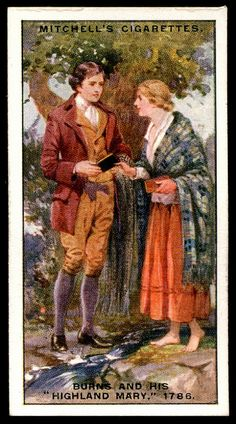"Cigarette Card - Robert Burns and ""Highland Mary"""