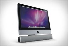 10 watt speaker with USB made to fit below the iMac