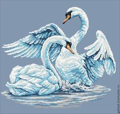 """Buy Embroidery beaded """"Swan fidelity"""" with full lining - the scheme for embroidery"""
