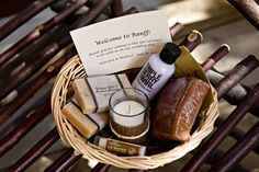 Good to have a welcome basket, and even better when it has local products
