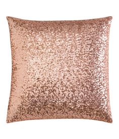 Pink sequin cushion cover - H&M