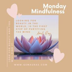 Monday Mindfulness - Do you find it easy to see beauty in all things?  If you make it a practise to LOOK for Beauty in the world, you will surely find it!!  This week make it a Daily Practise to LOOK for the Beauty! .....  Gem Auras sends you healing light and love 😍   #gemauras #athomewithgemauras #athomereboot #stayhomegc #gemporia #mentalstrength #mentalawareness #mentalhealthawareness #behappyquotes #mindfulness #mindvalleytribe #mindset #mindsetiseverything #mindbodysoul… Healing Light, Mental Strength, Self Motivation, Auras, Mind Body Soul, Mental Health Awareness, Law Of Attraction, Mindset, Gem
