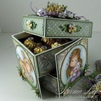 Hello.       The 2-tier box (pictured above) that I posted in my previous posting, HERE , was the first 2-tier box I made. I encountered a f...