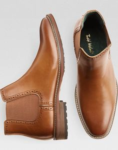 Selected View Man Shoes, Shoe Boots, Dress With Boots, Dress Shoes, Mens Business Casual Shoes, Men's Style, Classic Style, Tan Chelsea Boots, Skinny Fit Suits