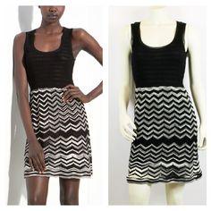 M Missoni Dress, Size 2. Retails for $699 on sale for $399! #missoni #fashion #chic #freeshipping #wontlastlong #luxuryconsignment  http://www.shopfashionhunters.com/products/m-missoni-black-white-zig-zag-chevron-ribbed-knit-dress-size-it-38-us-2