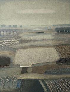 768 - Fields of grey - 90x70cm | Rob van Hoek - Landscapes