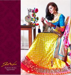JW's Yellow blue lehenga brings instant vibrance in you  Your special and your dress proves it so well, the yellow cotton lehenga is so comfortable and so peppy and is teamed with blue colour adding coolness to the outfit   https://www.facebook.com/photo.php?fbid=626697640715895&set=a.604336059618720.1073741828.125825320803132&type=3&theater