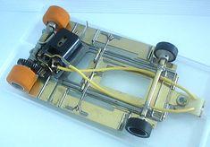 Vintage Handmade Pianowire and Brass Pan Slot Car Chassis Slot Car Racing, Slot Car Tracks, Slot Cars, Radio Control, Golden Age, Ephemera, Hot Rods, Dan, Games