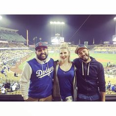 THINK BLUE: Anther one for the books. Slowly converting Bri to become a Dodger fan and popped Andrews Dodger Stadium cherry. Dodgers win... Successful night.  #la #bleedblue #losangeles #dodgers #boysinblue #W #newfan #newhoodie #everyonewasmatchingme #doyer #doyerdog = #toiletcentral by itsjakeperea