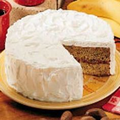 Buttermilk Banana Cake - my mother used to make something like this, but without filling. so good!